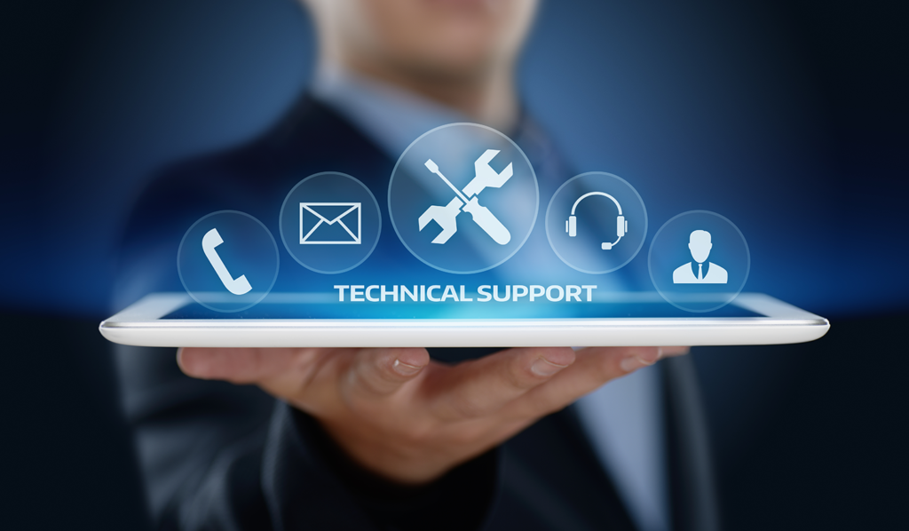 Technical support menu icon